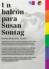 """Lectura continuada """"Un balcón para Susan Sontag"""""""